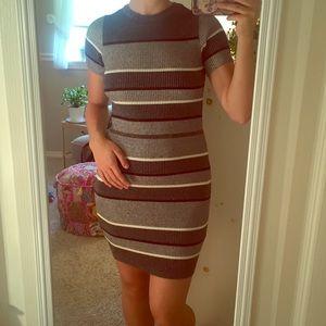 Knit striped dress from Zara